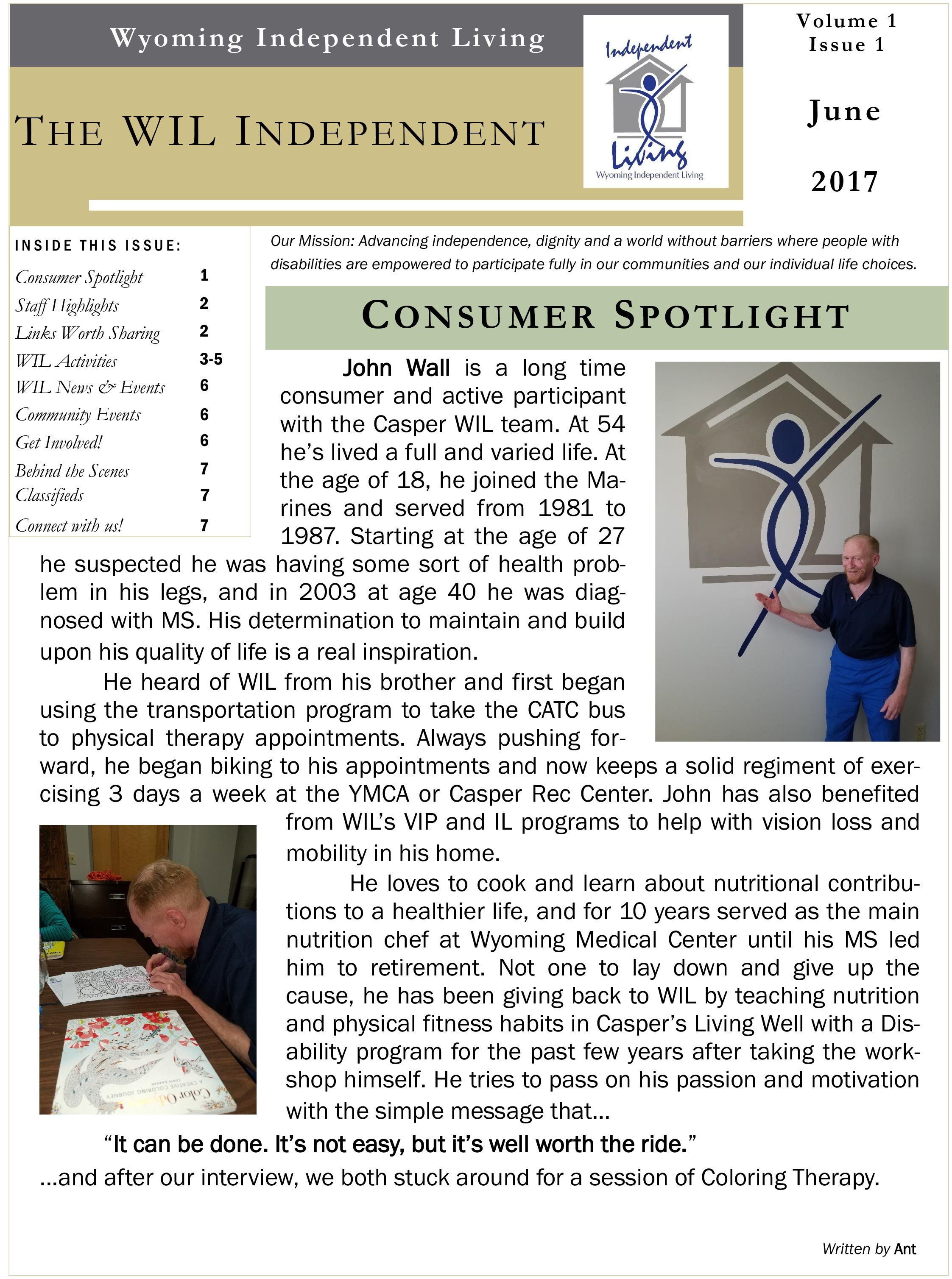 June 2017 newsletter front page